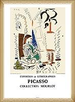 ポスター パブロ ピカソ Latelier a Cannes 1956 額装品 ウッドベーシックフレーム(ナチュラル)