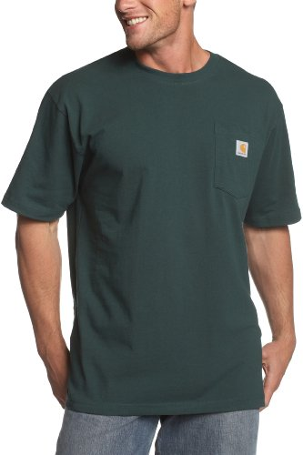 Carhartt Men's K87 Workwear Short Sleeve T-Shirt (Regular and Big & Tall Sizes), Hunter Green, 3X-Large