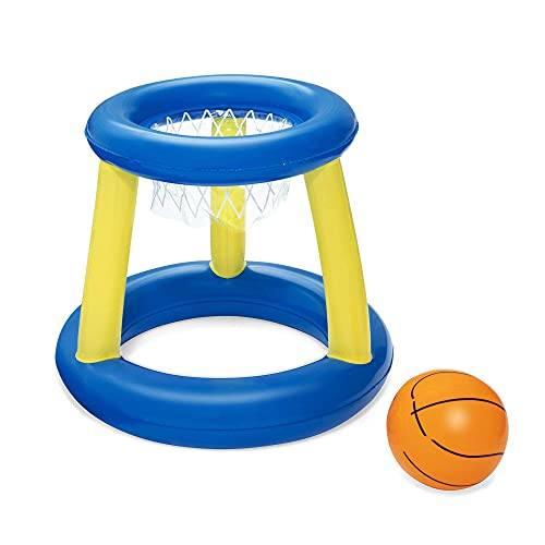 LGR Sistema Inflable de la natación del Baloncesto del aro, Juego de Piscina Flotante