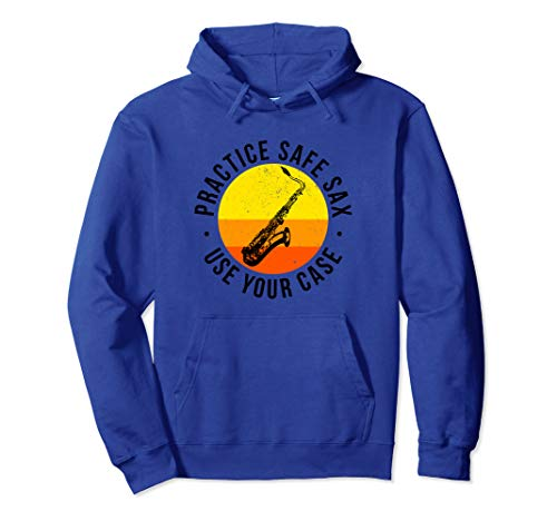 Funny Safe Sax Tenor Alto Bari Saxophone Band Student Gift Pullover Hoodie