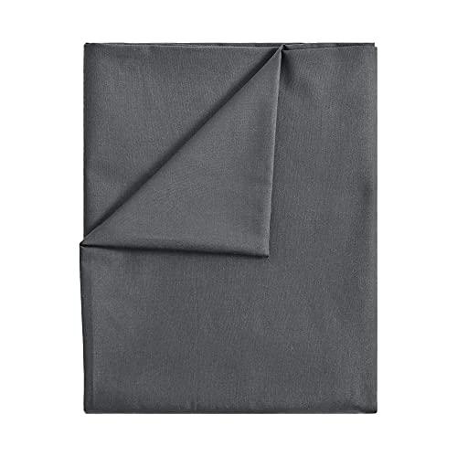 leevitex® Bettlaken ohne Gummizug Baumwolle | Betttuch | Laken | Leintuch | Haustuch | Große Auswahl an Farben und Größen | MARKENQUALITÄT | Anthrazit Grau, 150 x 250 cm