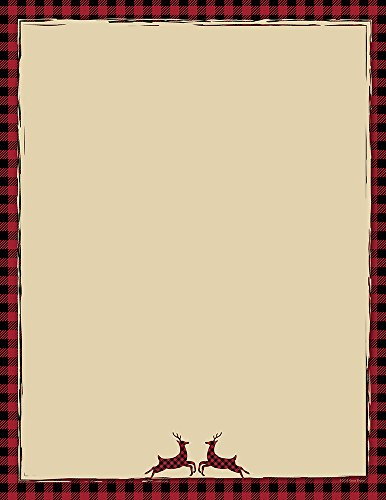 Great Papers! Buffalo Red Reindeer Holiday Letterhead, 8.5' x 11', 80 sheets (2018010)