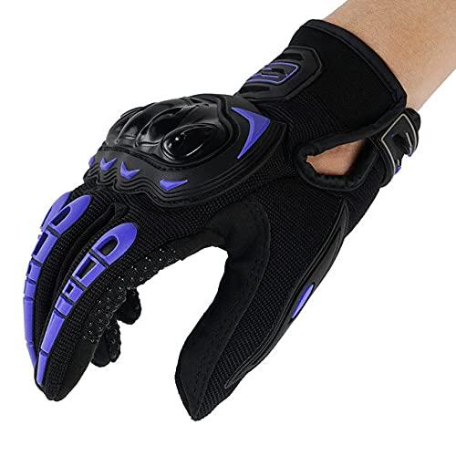 Guantes de Motocicleta, Pantalla táctil, Dedo Completo, Poder Transpirable, Guantes de Ciclismo para Carreras de Motocicletas al Aire Libre
