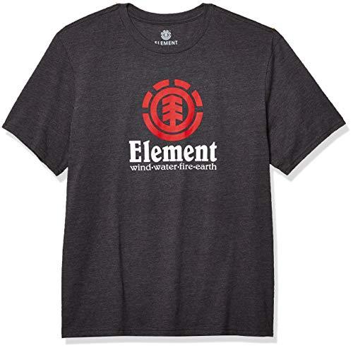 Element Men's Vertical Short Sleeve Tee Shirt, Charcoal Heather, XL
