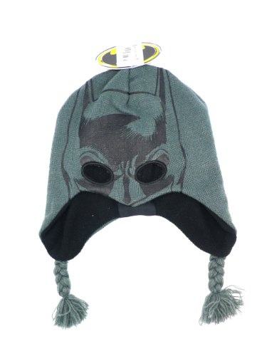 Batman Mask Knit Youth Beanie Peruvian Laplander Hat
