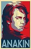 Anakin Skywalker Star Wars Illustration - Darth Vader Jedi Sith Sci-Fi Movie Film Pop Art Home Decor Poster Print (11x17 inches)