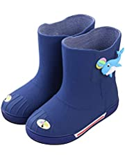 [JPバレンタインデー] 子供用 レインブーツ キッズ 女の子 男の子 雨靴 長靴 レインシューズ 幼児 防水靴 ショートブーツ ミドルカット 滑り止め 柔らかい 耐磨耗性 漫画風 可愛い 通学 通園 2-8歳