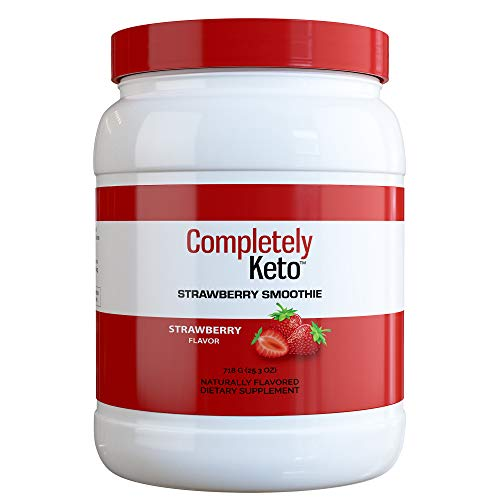 Completely Keto Shake Meal Replacement Powder for Weight Loss - Low Carb Smoothie Mix Alternative to Protein Shakes, Strawberry Flavor 1