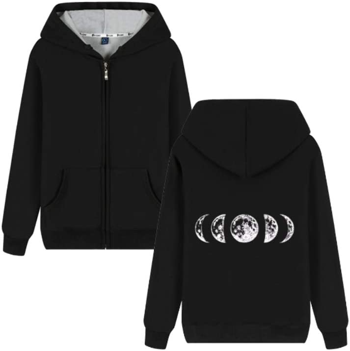Sjhgfrsd Outerwear Just a Phase Moon Phases Letter Printing Pullover Comfortable Men (Color : C02, Size : Medium)