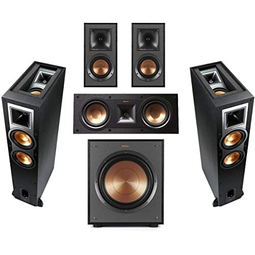 Klipsch 2 Pack R-26FA Dolby Atmos Speaker - Bundle with R-41M...