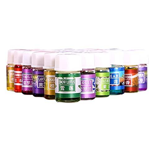 oshhni Aceites esenciales Aceite de aromaterapia para masajes Lavanda natural Osmanthus Limón Nieve Aceite de fragancia de loto