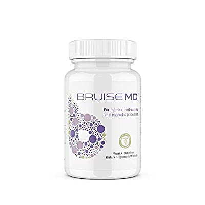 BruiseMD Arnica 1,000mg and Bromelain 500mg 2,400GDU/g Supplement for Bruising and Swelling,