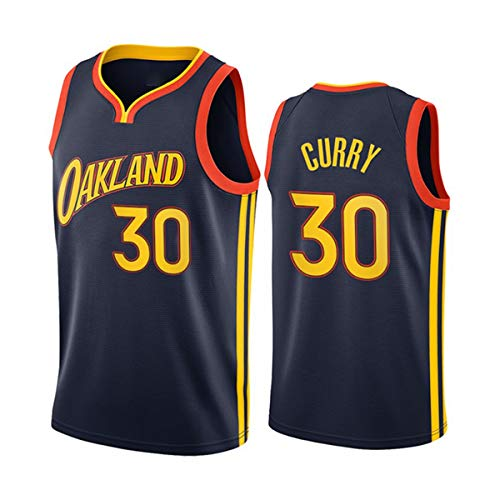 Camisetas De Baloncesto para Hombres, NBA Golden State Warriors Stephen Curry 30# Cool Tela Transpirable Unisex Camisa De Entrenamiento Ventilador Sin Mangas Chaleco,XL(180~185CM/85~95KG)