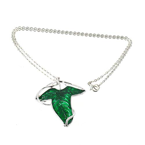 CHOUREN Pendant Necklace 1pcs Charm Women Green Leaf Elven Pin Pendant Chain Necklace Jewelry New Female Party Wedding Accessories