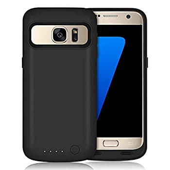 HETP Galaxy S7 Battery Case 5000mAh Upgraded Portable Rechargeable Extended Battery Pack for Samsung Galaxy S7 Charging Case for Galaxy S7 Protective Charger Cover -Black