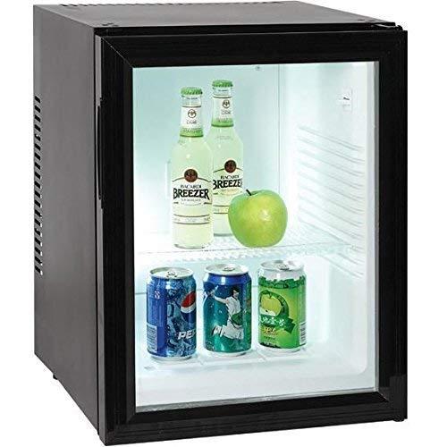 Minibar by buynext24 kleiner Mini Kühlschrank mit Glastür für Getränke 40 Liter Volumen Minikühlschrank Lautlos Hotelkühlschrank 220 V Kühlschrank für Zimmer und Hotels
