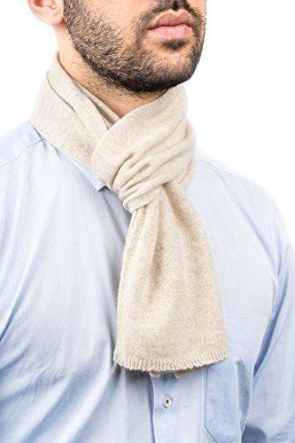 DALLE PIANE CASHMERE - Mini Schal aus 100prozent Kaschmir - für Mann/Frau, Farbe: Beige, Einheitsgröße