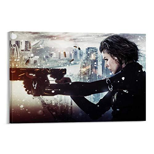 Póster personalizado de DRAGON VINES Resident Evil Alice The Survivor en lienzo para hogares oficinas, garajes, tiendas de 40 x 60 cm