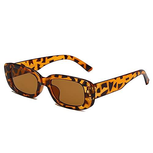 #N/D Gafas de sol cuadradas de estilo europeo y americano de viaje rectángulo pequeño vintage retro de alta definición