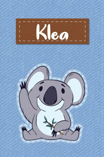 Klea: Lined Writing Notebook for Klea With Cute Koala, 120 Pages, 6x9