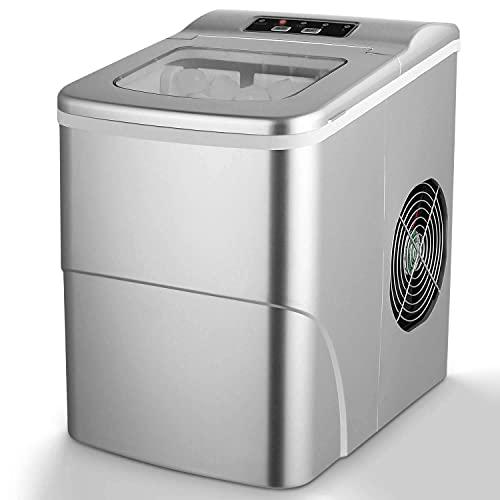Máquina para Hacer Hielo, Máquina de Cubitos de Hielo Silenciosa / 12 kg de Cubitos de Hielo (26...