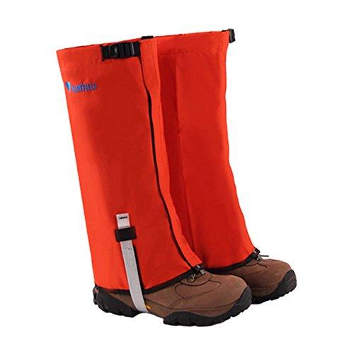 Bluefield Blue Field - Ghette antivento impermeabili per esterni, protezione per gambe, protezione per sci, escursionismo, arrampicata, arancione