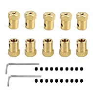 Hamineler 10 Pieces 7mm Motor Flexible Coupling Coupler Connector for Car Wheels Tires Shaft Motor Accessories
