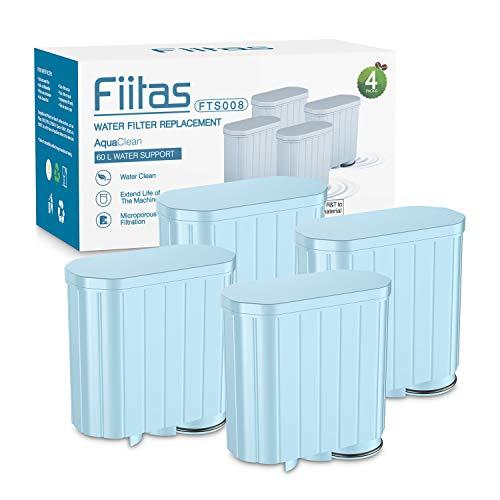 Fiitas Kaffeemaschinenfilter für Philips, CA6903 Aqua Clean Wasserfilter für Vollautomatische Kaffeemaschinen Spezieller Anti-Kalk-Wasseraufbereiter (4er Pack)
