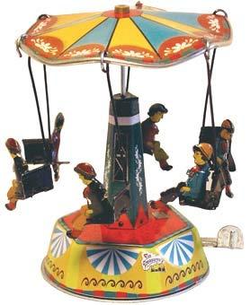 Juguete Decorativo de Hojalata CARRUSEL India Carruseles y Circuitos de Cuerda. Juguetes y Juegos de Colección. Regalos Originales. Decoración Clásica.
