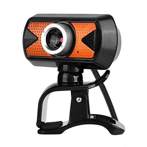 360 Degree Rotation USB2.0 Webcam 16M Pixel HD Web Camera with External Digital Microphone for Laptop and Desktop Computers Support Video Conference, Software.