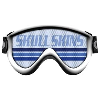 1-GS-OR-DERAILED Orange SkullSkins Derailed Motorcycle Goggle Skin