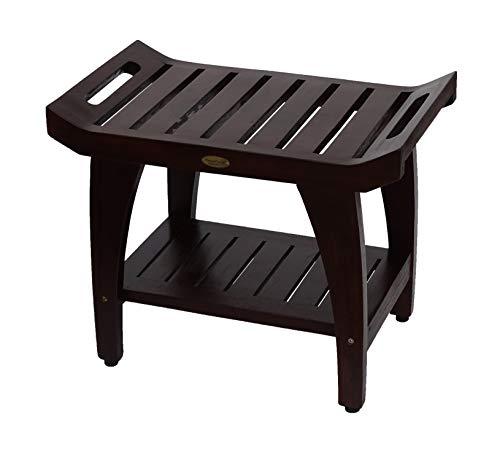 Decoteak Tranquility Shower Bench, 24' Length, Brown
