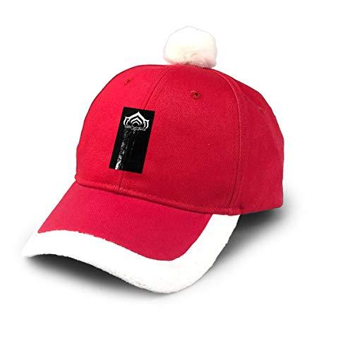 AHISHNF Gorra de béisbol de Papá Noel roja con Logo de Warframe para niños, Adultos, familias, Celebraciones, Año Nuevo