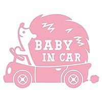 imoninn BABY in car ステッカー 【パッケージ版】 No.37 ハリネズミさん (ピンク色)