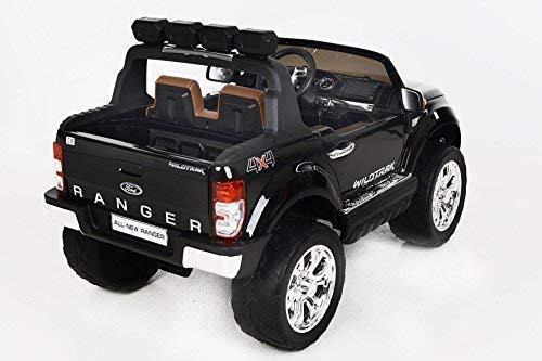 RC Auto kaufen Kinderauto Bild 5: RIRICAR Ford Ranger Wildtrak 4X4 LCD Luxury, Elektro Kinderfahrzeug, LCD-Bildschirm, lackiert schwarz - 2.4Ghz, 2 x 12V, 4 X Motor, Fernbedienung, 2-Sitze in Leder, Soft Eva Räder, Bluetooth*