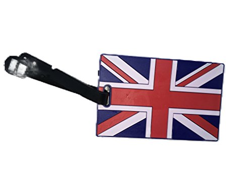 Luggage Tag Address ID Name Tag Silicone Suitcase Personalised Identifier Label by HOMEELABADOR (Union Jack)