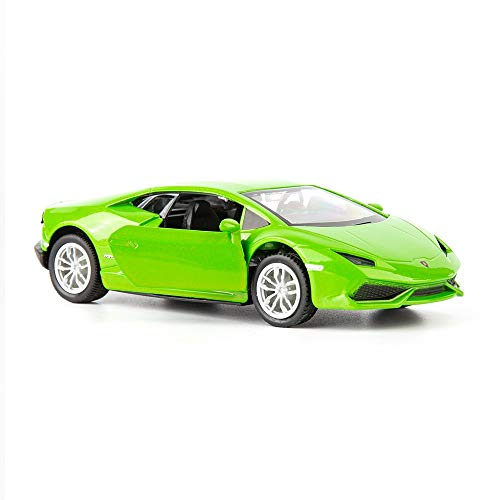 TGRCMCZ 1/36 Scale Huracan LP6104 Casting Car Model Zinc Alloy Toy Car for Kids Pull Back Vehicles Toy Car for Toddlers Kids Boys Girls Gift Green