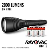 Rayovac Tactical Flashlight, 2,000 Lumens The Beast Super Bright High Mode LED Flashlights for Camping, Hiking, Dog walking (Batteries Included)