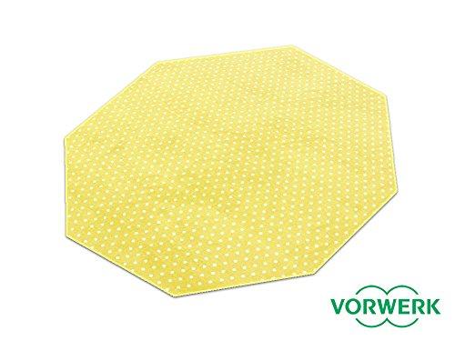HEVO Laufgitter Einlage und Unterlage Vorwerk Petticoat gelb Teppich 200x200 cm Achteck