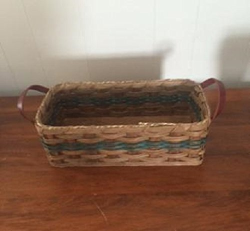 Amish Handmade Large Bread handles leather Sale with Basket New sales