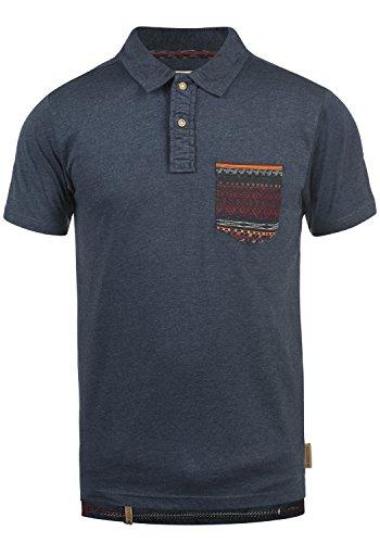 Indicode Alastair Herren Poloshirt Polohemd T-Shirt Shirt Mit Polokragen, Größe:XXL, Farbe:Navy (400)