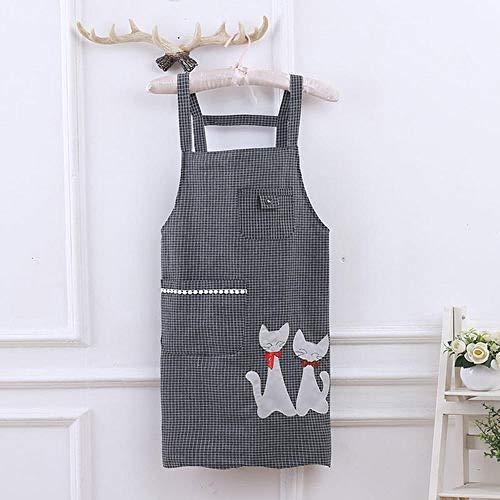 HPPSLT Schürze Moderne Nette Baumwollweste Schürze Ärmel Haus Kleidung Weste Schürze Hausarbeit-1 Kochschürze (Color : 7)