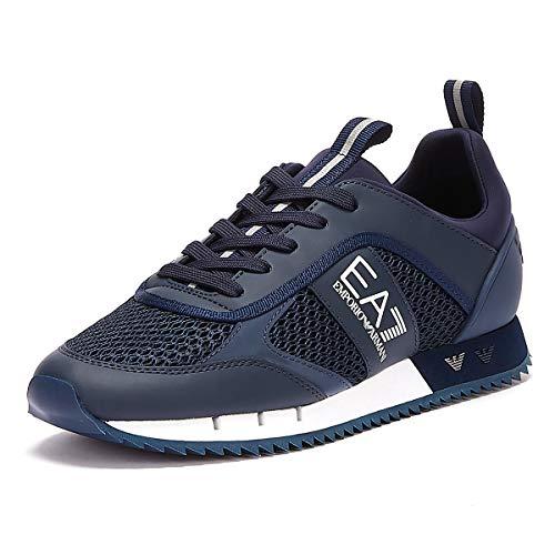 EA7 B&w Mesh Run Herren Sneaker Blau 45 EU