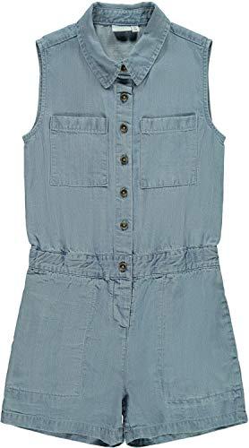 NAME IT Mädchen NKFBATYTTE DNM 1350 S/S Suit Overall, Light Blue Denim, 128