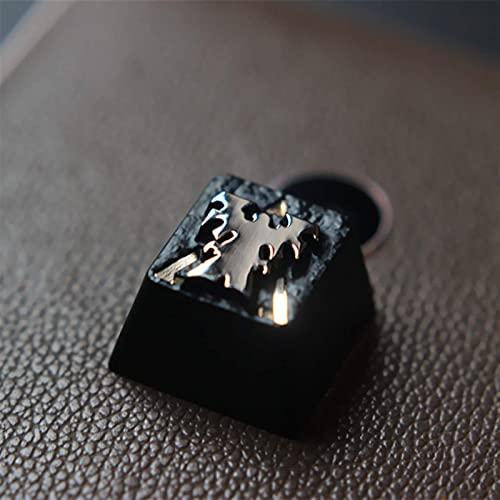 F-Mingnian-rsg Partes del Teclado keycap 1pc Keycap Personalizado en Relieve Aleación de Zinc Keycap para Juego Teclado mecánico High-End Unique DIY for E (Color: SC2 Terran)