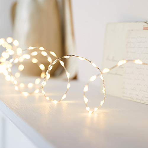 Lights4fun Guirnalda Luminosa de Perlas con 378 Micro LED Bl