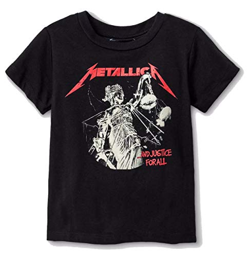 Metallica Toddler Boys and Justice for All Short Sleeve T-Shirt (Black, 5T) (5T)