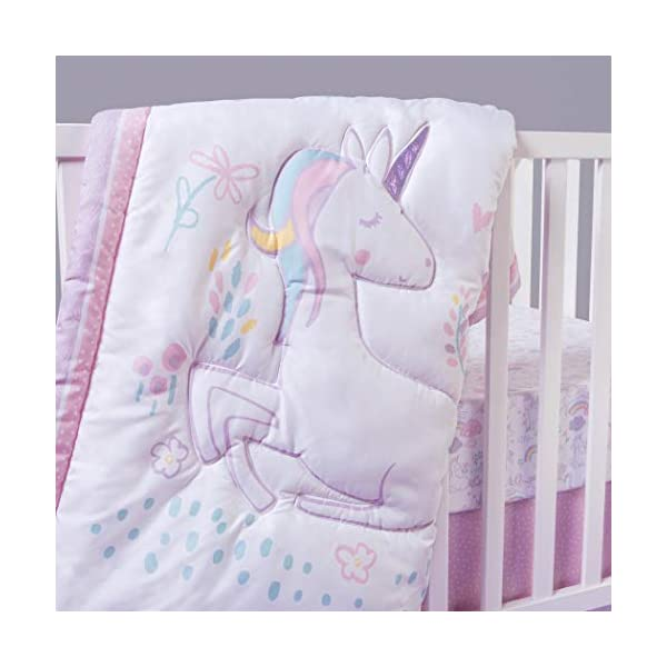 Sammy & Lou Sammy & Lou Sweet Unicorn 4Piece Crib Bedding Set