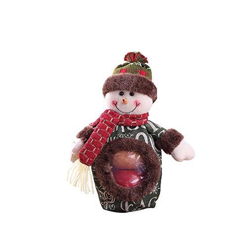 Redpool Christmas Three-Dimensional Doll Candy Bag Children Apple Bag,Cute Creative Santa Claus Snowman Deer Patterns Decor Supplies