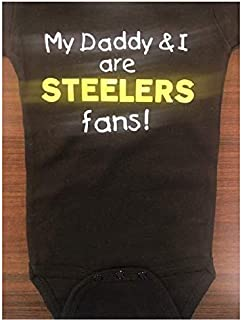 My Daddy and I are Pittsburgh fans baby bodysuit Steelers infant one piece